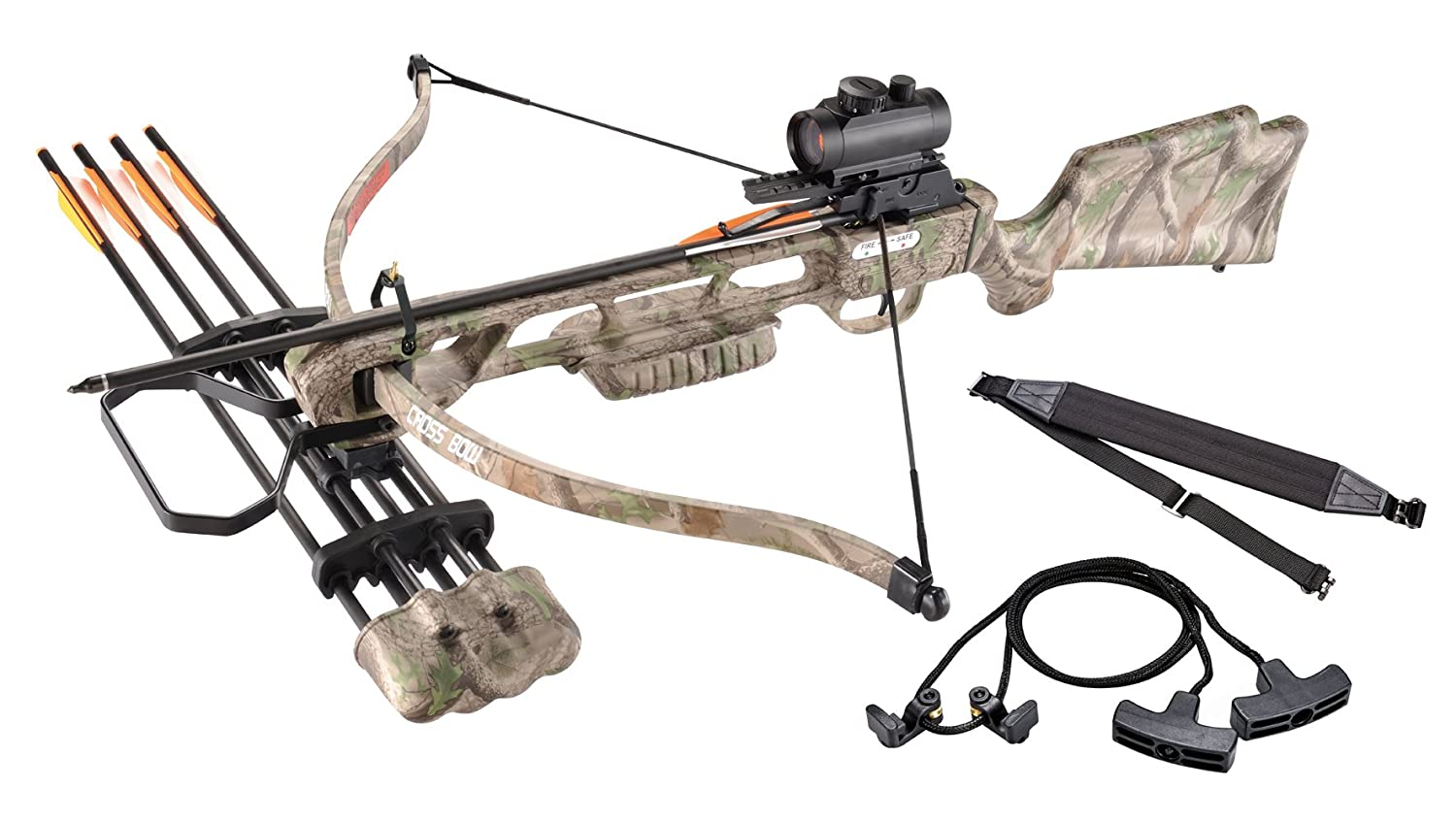 XGear Crossbow 160lbs 210fps Archery Equipment Hunting Bow with Quiver and 4pcs of Aluminum Arrow