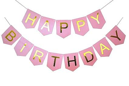 Amazon.com: brcohco feliz cumpleaños Banner Suministros para ...