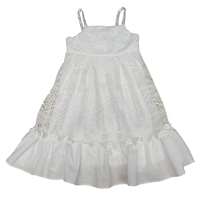 56e579d76 Image Unavailable. Image not available for. Color: Rare Editions Little  Girls' White Lace Sundress Ivory ...