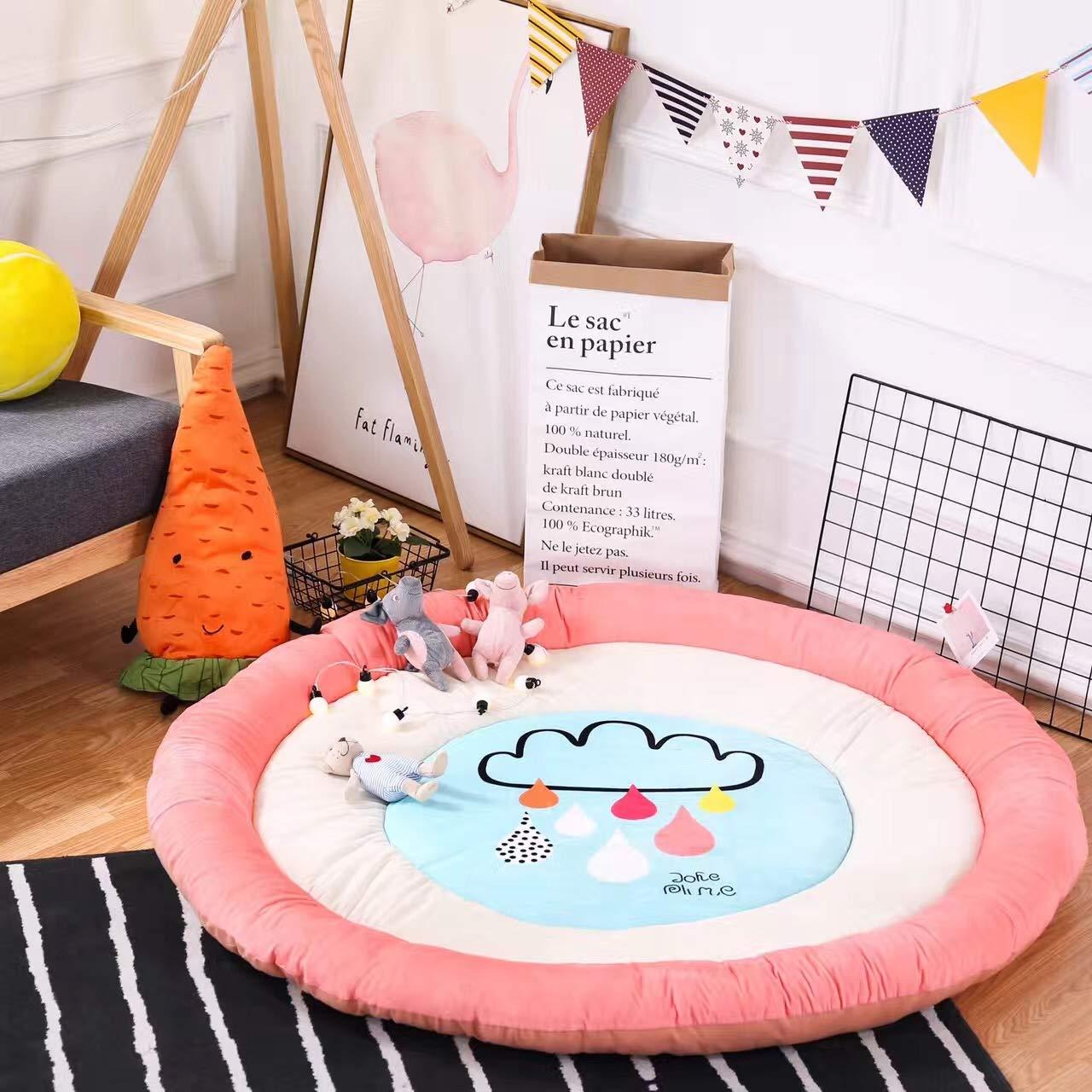 DMMASH Spielmatte Rund Rund Rund Krabbeln Decke Säuglings Boden Teppich Baby Aktiv Zimmer Dekor,Farbe3 20b923