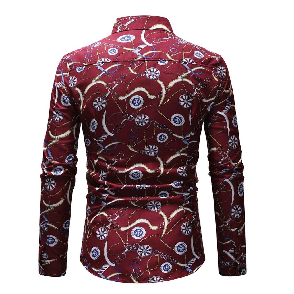 DEESEE ❤T-Shirt Men Printed Long-Sleeve Beefy Muscle Basic Solid Blouse TM