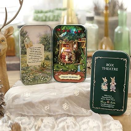 Fai DA TE Dollhouse Miniature 3D Doll House chiaro BOX THEATRE Handcraft giocattolo in miniatura