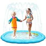 HYVIGOR Splash Pad, 68'' Sprinkle Play Mat, Sprinkler Summer Toys for Kids, Outdoor Water Toys for 3 Years Old and Above…