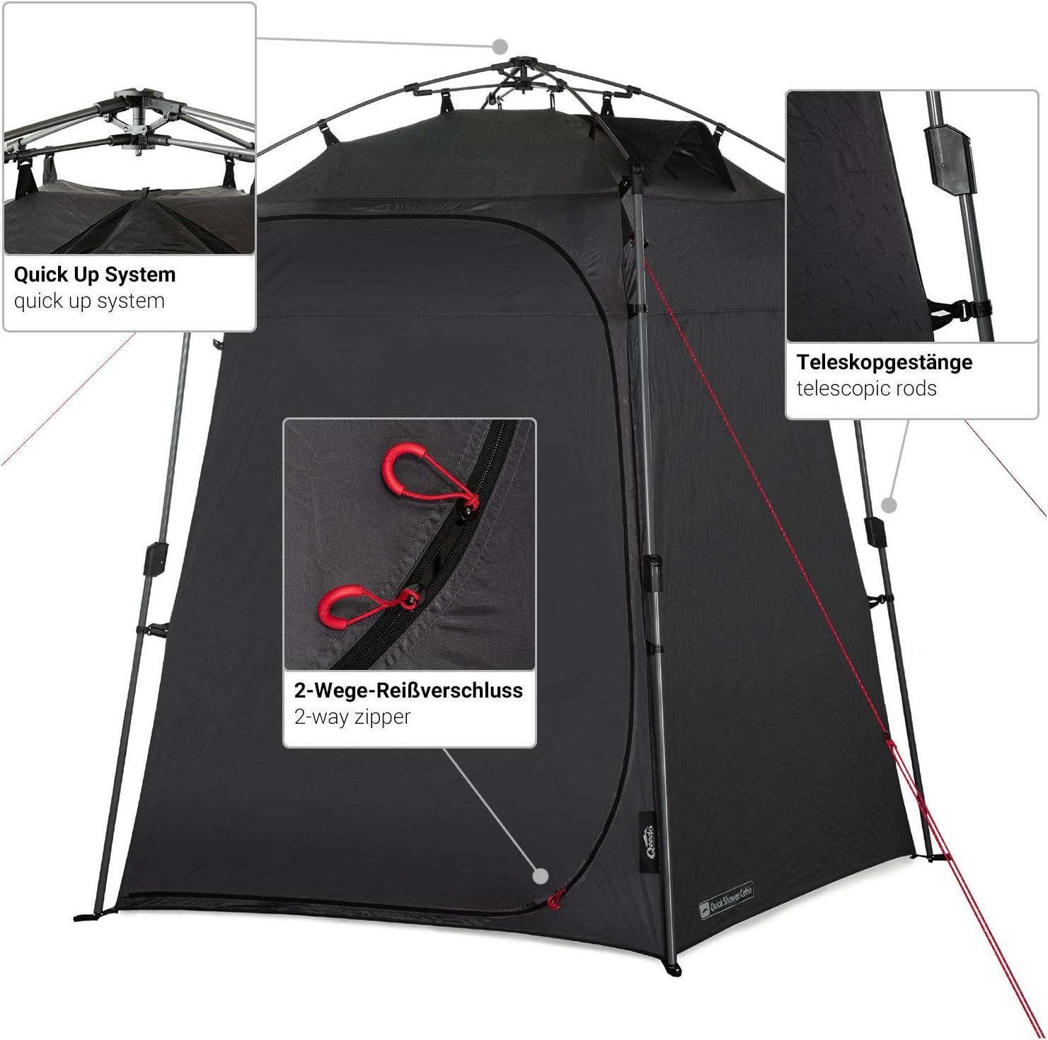 Opaca Tienda de Ducha y caseta de Camping 2 m de Altura Cabina de Ducha Qeedo Quick Shower Cabin