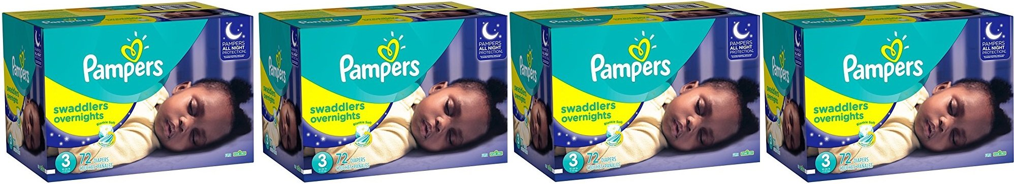 Pampers Swaddlers Overnights Diapers XVLSYD, Size 3, 288 Count