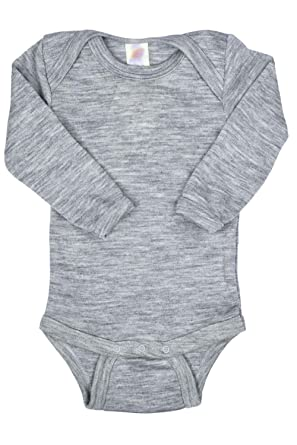 15d9f8324811 Amazon.com  EcoAble Apparel Thermal Baby Onesie Bodysuit Pajama Long ...