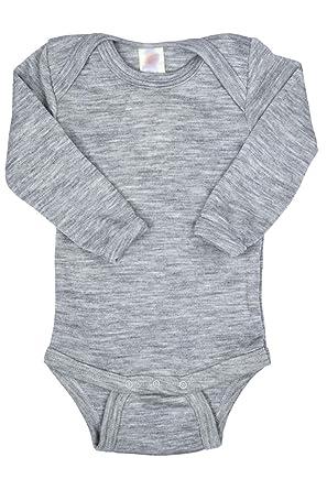 b5e05f859 Amazon.com  EcoAble Apparel Thermal Baby Onesie Bodysuit Pajama Long ...