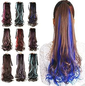 Remeeehi - Extensiones de pelo para mujer, con forma de cola ...
