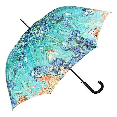 VON LILIENFELD Paraguas Automática Mujer Motivo Arte Floral Vincent van Gogh: Lirio