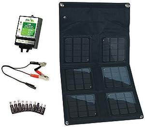 18-Watt Folding Monocrystalline Solar Panel with 8-Amp Charge Controller