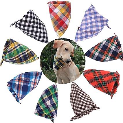 f676e0c40 Amazon.com   TAOBABY Boys Girls 8PCS Pack Pet Puppy Dog Cat Bandanas ...