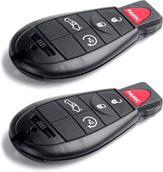 SCITOO Uncut Ignition Key Fob 2X 5 Button Keyless Entry Option Replacement fit for Chrysler 300 Town /& Country//Jeep Commander Grand Cherokee//Dodge Series M3N5WY783X IYZ-C01C