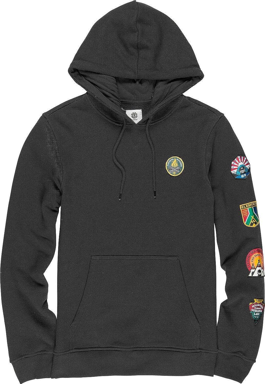 Element Herren EA Patched Fleece Hoddie Sweatshirt Off schwarz S