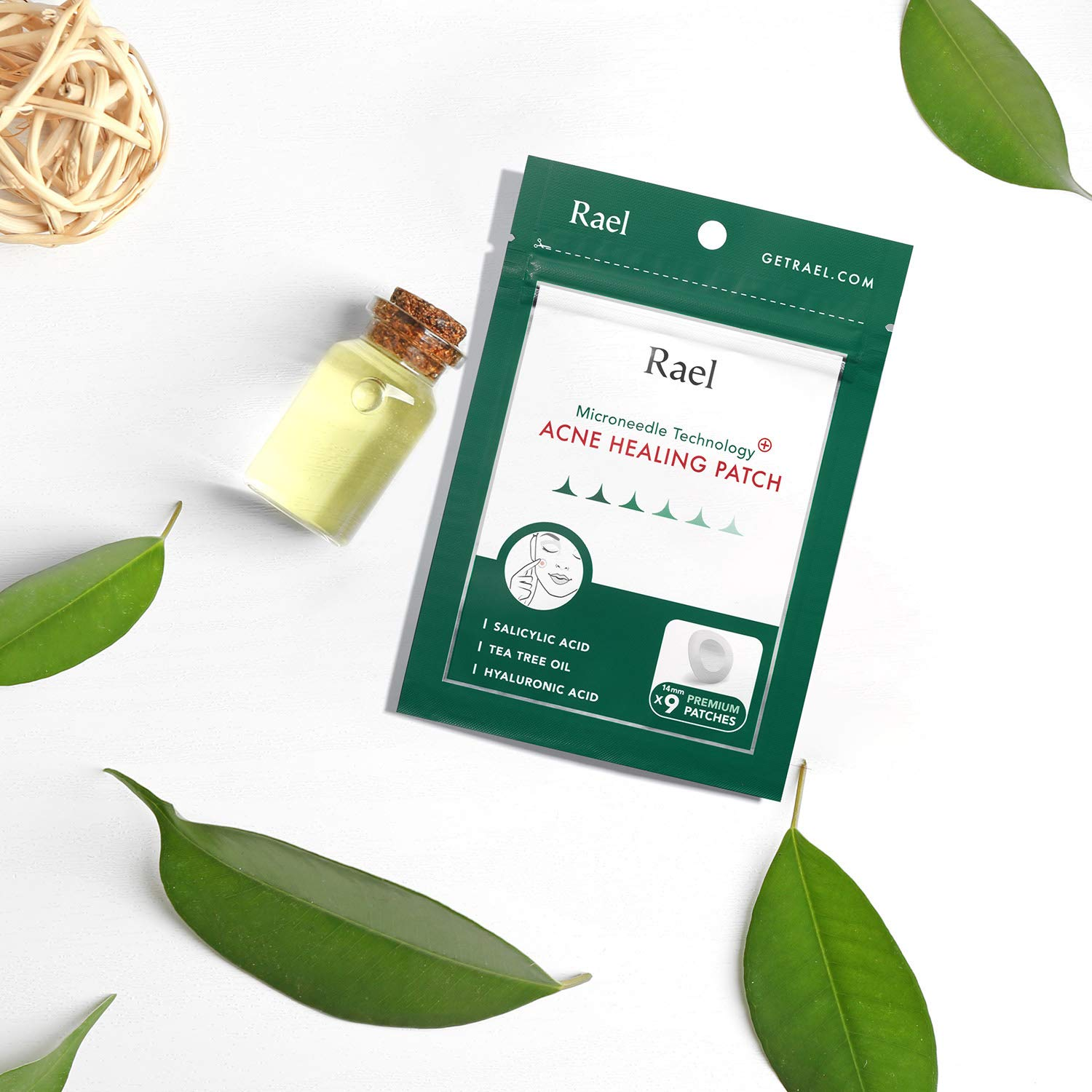 Rael Microneedle Acne Healing Patch - Pimple Acne Spot Tea Tree Treatment (4Pack, 36 Patches) by Rael (Image #6)