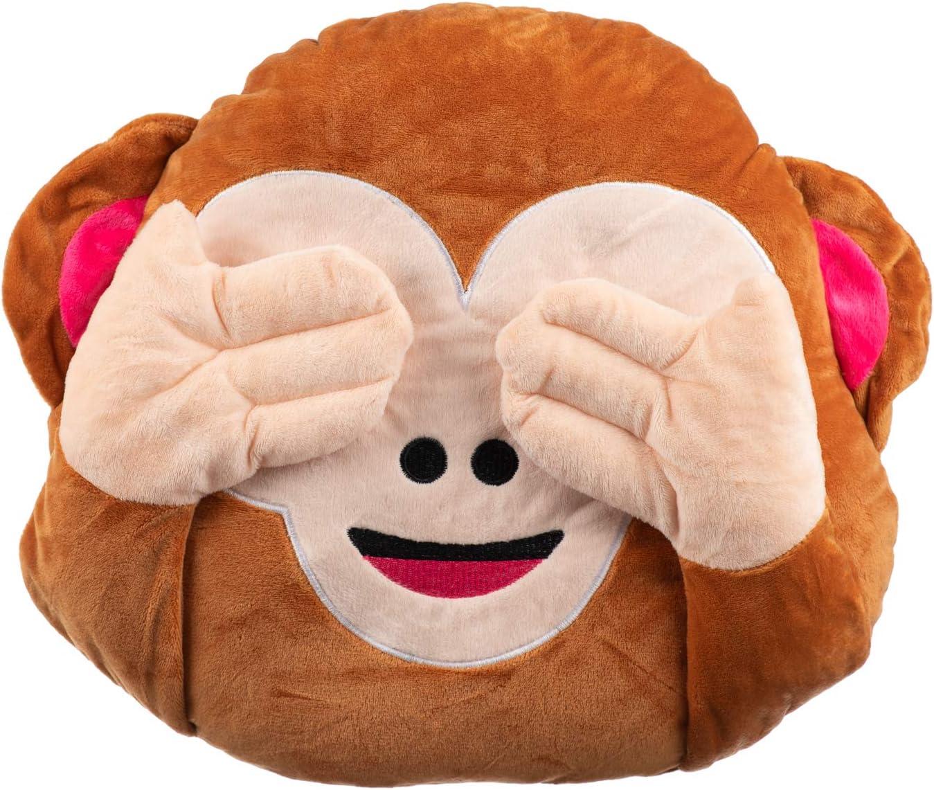 Bouche Emoticone Coussin Smiley Emoji Singe 37x32 Cm Toucher Tres Doux 3 Assortis Cuisine Maison Ameublement Et Decoration