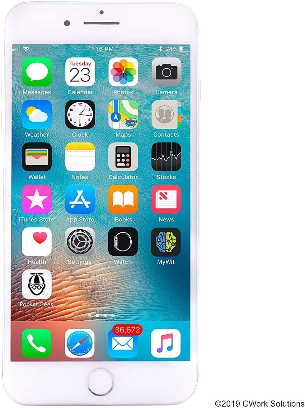 Apple iPhone 8 Plus, 64GB, Silver - For Verizon (Renewed)