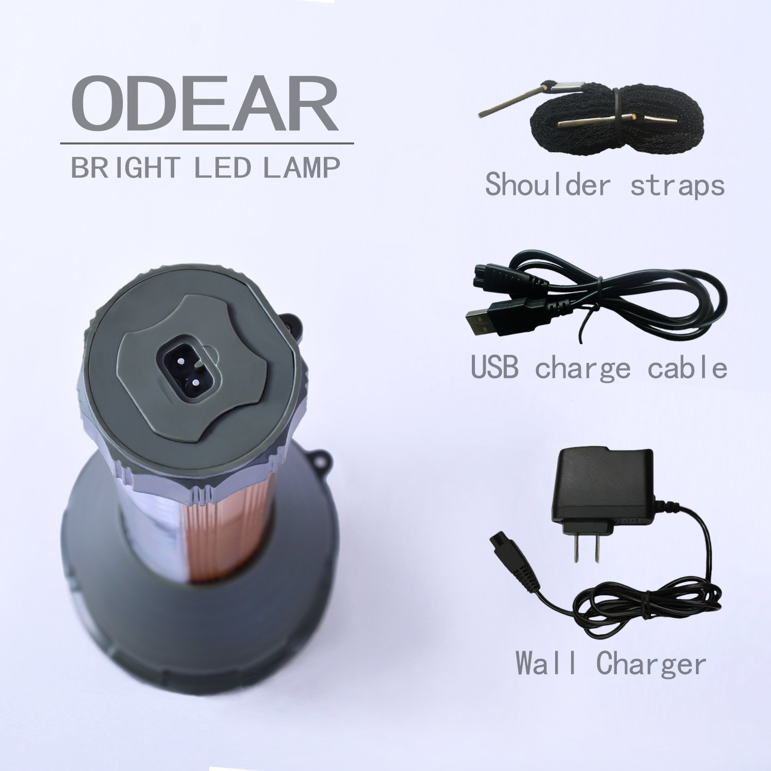 Odear/ Very Bright/ Large Flashlight Multi-function/ Digital/ LED Spotlight/ Rechargeable Outdoor Searchlight for/ Home/ Camping/ Reading/ Party/ Hunting/ Fishing Walking Dog Search