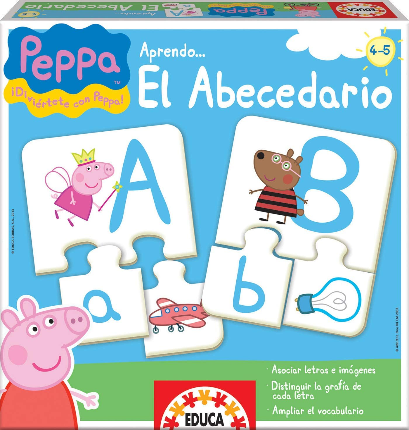 Educa Borras Puzzle Aprendo El Abecedario Peppa Pig (15652 ...