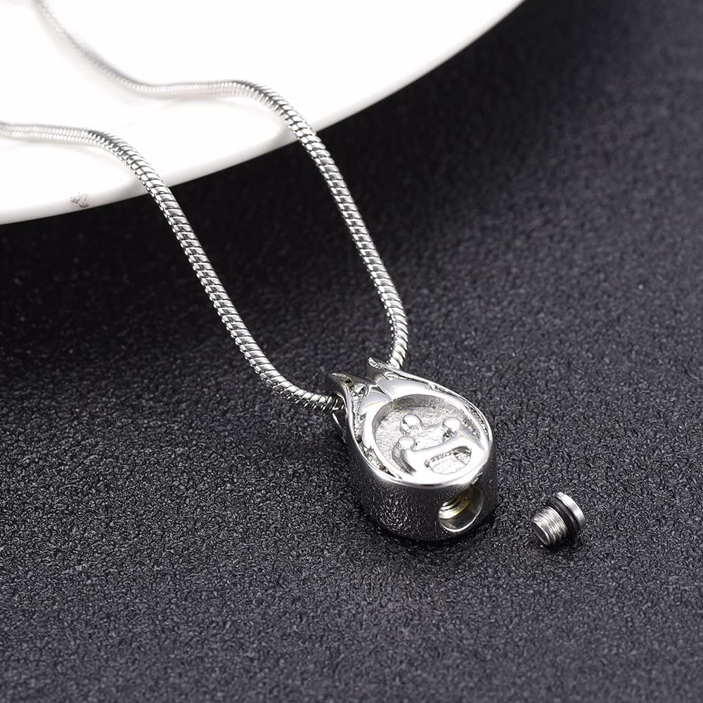 Family is Always Together Cremation Jewelry for Ashes Necklaces Stainless Steel Keepsake Memorial Locket Necklace Pendant Jewelry