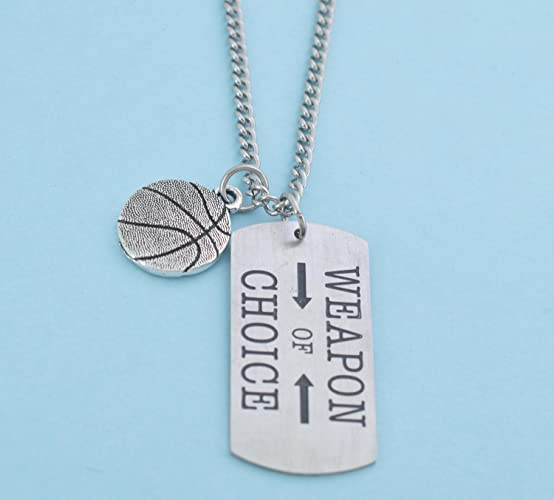 amazon com basketball necklace and weapon of choice stainless steel