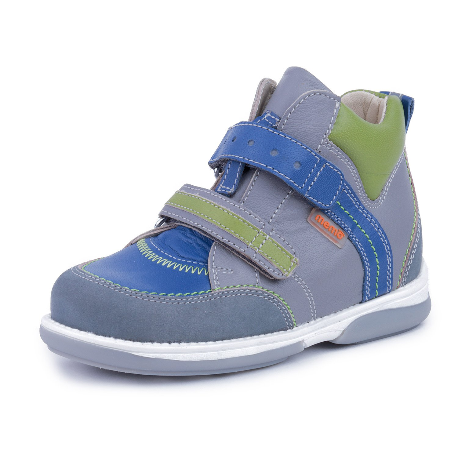 Memo Polo 3BC Diagnostic Sole Ankle Support Boy's Orthopedic Leather Sneaker, 26 (9T)