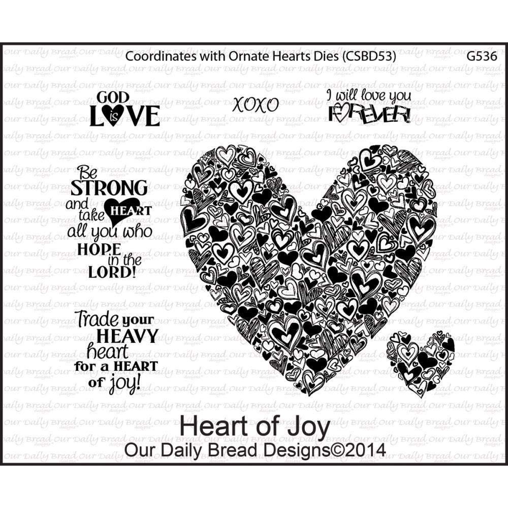 ShopForAllYou Stamping & Embossing Heart of Joy Cling Stamp Collection Our Bread New Love Doodle Sketch Art