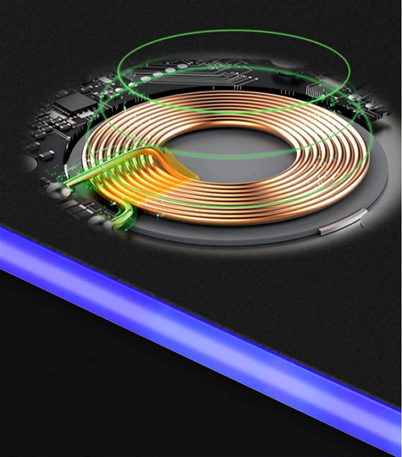 Amazon.com: Qi Wireless Charger Mouse Pad, 3 in 1 Waterproof 10W Fast Charger Mouse Pad Wireless Charging for MICES & All Qi enable devices like iPhone 8; ...
