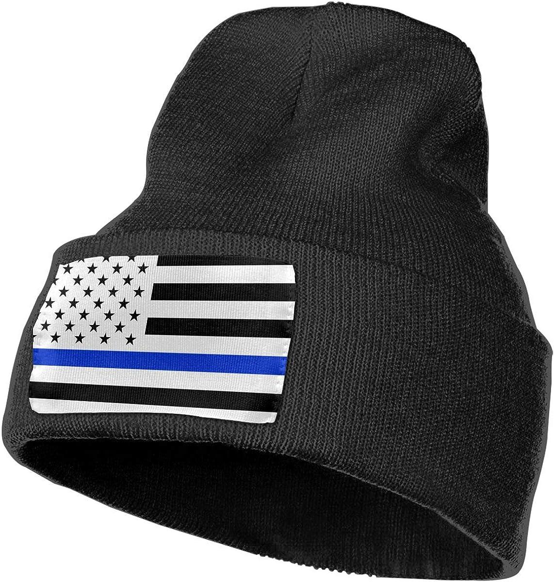Sheery Blue Thin Line Flag Casual Knit Cap for Men Women 100/% Acrylic Acid Skull Cap Woolen Hat