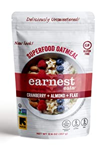 Earnest Eats Superfood Hot Cereal with Quinoa, Oats & Amaranth, 12.6 Oz Bag, American Blend, 75.6 Oz (Pack of 6)