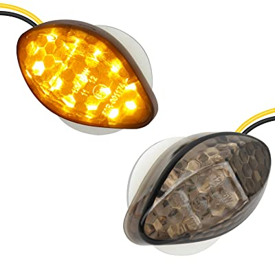 NTHREEAUTO 2Pcs Amber Flush Mount LED Turn Signal Lights Compatible with Honda CBR600RR CBR1000RR CBR 600 F4 CBR900 CBR919 CBR929 CBR 600 F4i- Universal 12V Motorcycle Indicators: Automotive