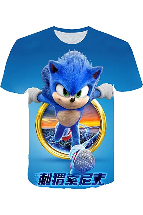 Sonic The Hedgehog Personalised Kids T shirts//Top  Age 1-13 yrs  Boys//Girls