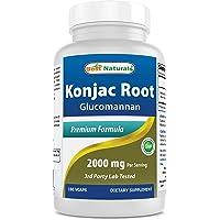 Best Naturals Konjac Root 2000mg, 180 Count