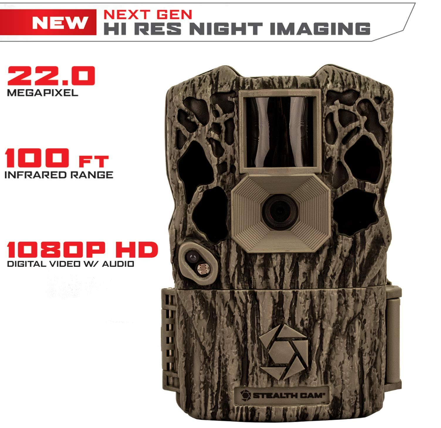 Stealth Cam XV4 Infrared 22MP Game Camera High Rez Night Imaging, Minimizes Grain, Smart Illumination Technology