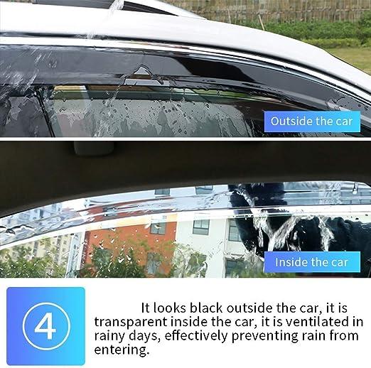 Tuqiang Fen/être Visi/ère Pour RAV-4 //VANGUARD 2007-2012 D/éflecteur de Vent Pare-soleil Vent Visi/ère Pare-pluie Protection 4 Pi/èces XA30