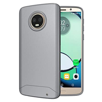 sports shoes 50c93 eac01 Motorola Moto G6 Plus Case, TUDIA Full-Matte Lightweight [Arch S] TPU  Bumper Shock Absorption Cover for Motorola Moto G6 Plus (Gray)