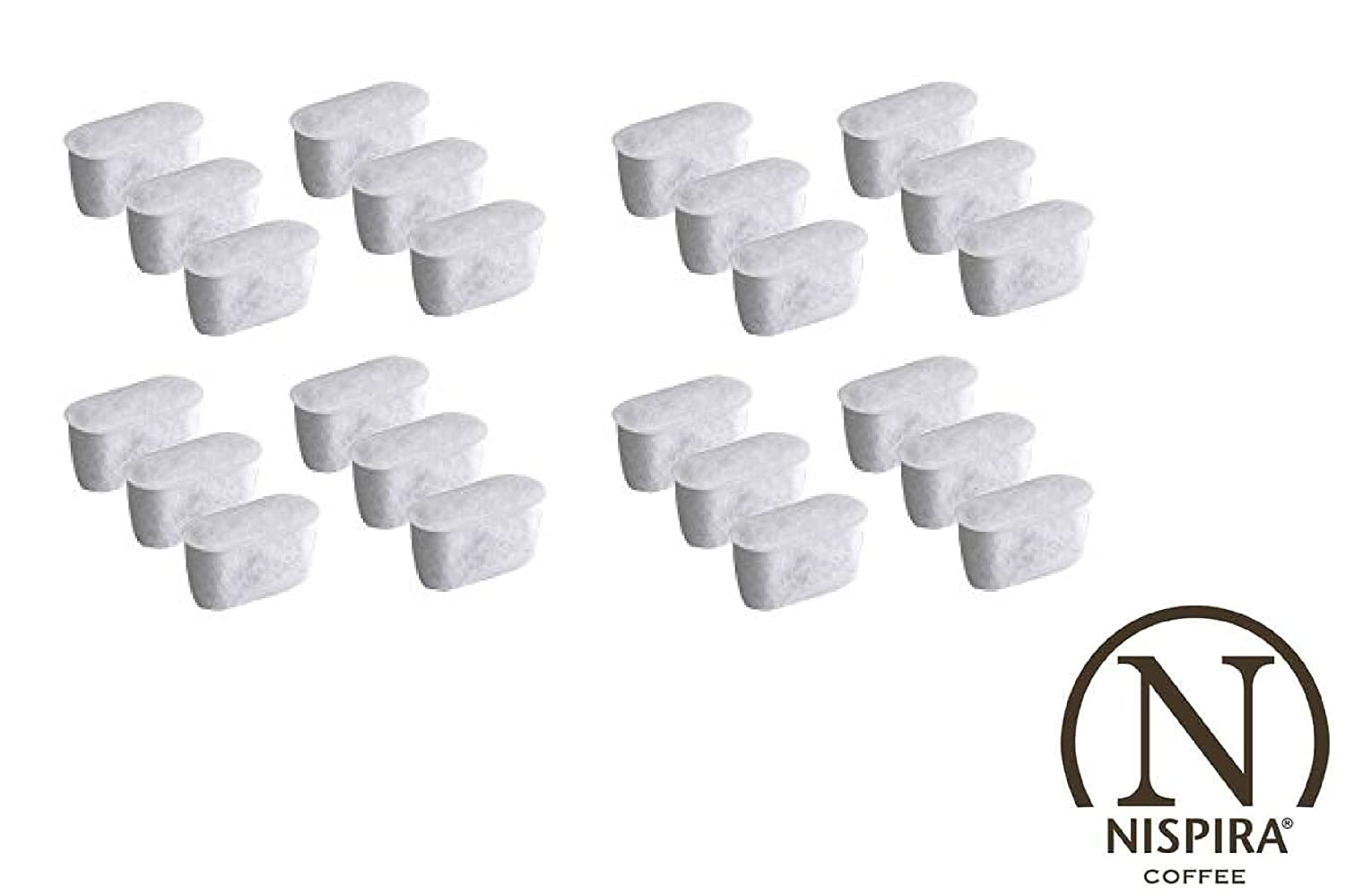 24 Nispira Activated Charcoal Water Filters Replacement, Compared To Cuisinart Coffee Machine Part DCC-RWF