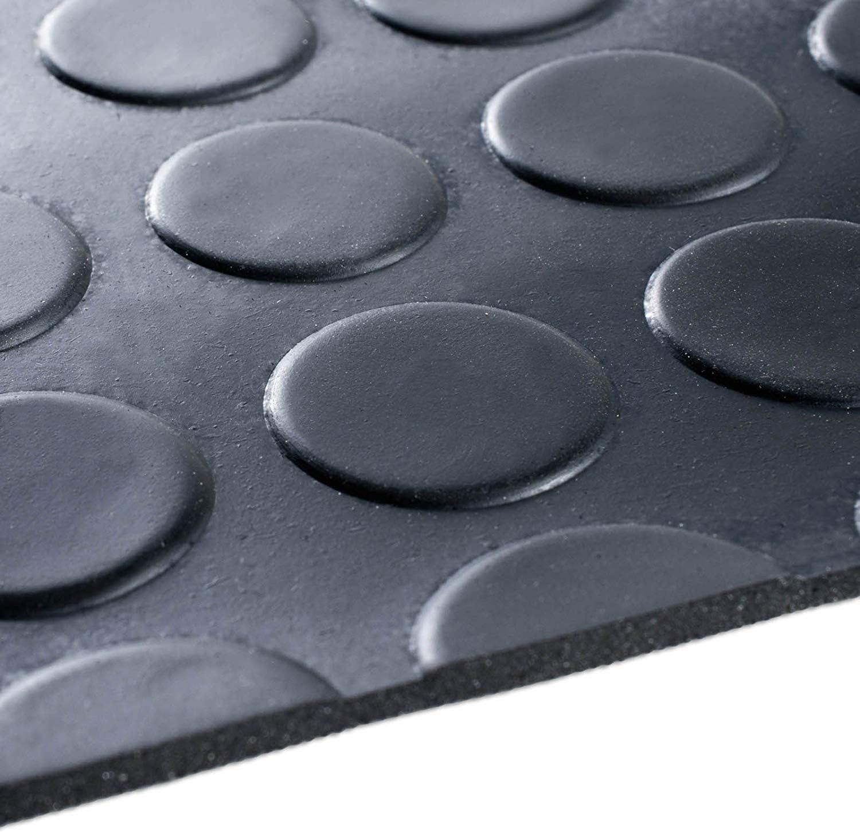 1,8x6 m, Fein gerippt - St/ärke: 3mm Viele Gr/ö/ßen zur Auswahl rutschfeste Gummiplatte Bodenmatte aus Gummi Geeignet als Garagenbodenmatte Pferdestallmatte oder Werkbankmatte