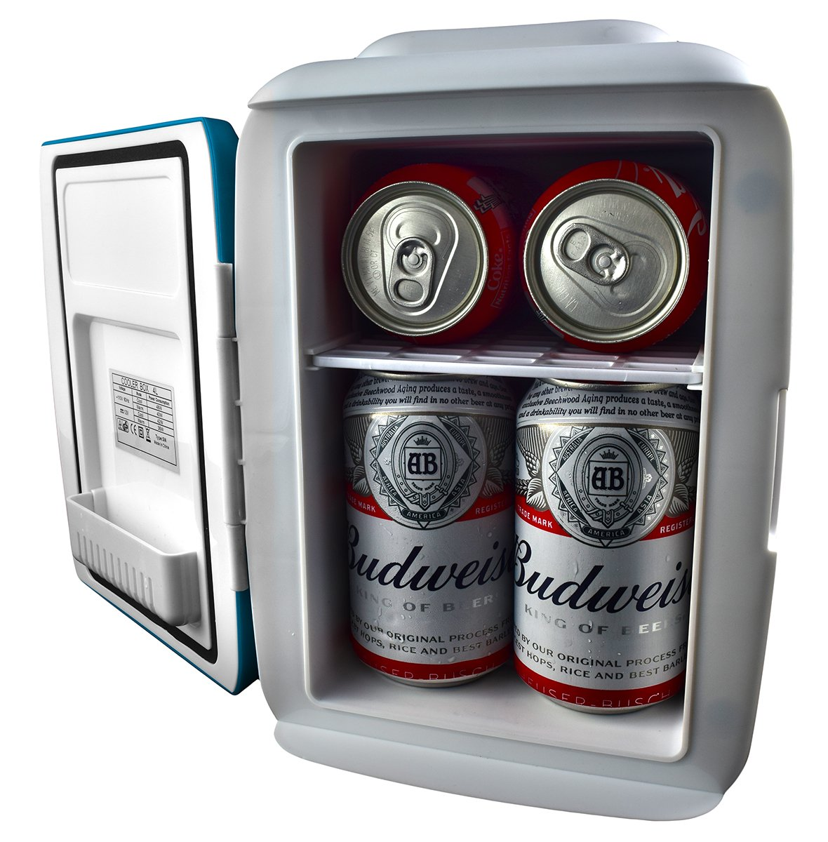 Amazon.com: Cooluli Mini Fridge Electric Cooler And Warmer (4 Liter/6 Can):  AC/DC Portable Thermoelectric System W/Exclusive On The Go USB Power Bank  Option ...