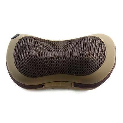 Cojín Masaje Shiatsu para Relajación Cuello Cintura Espalda Pierna & Caldeado y Mando a Distancia para
