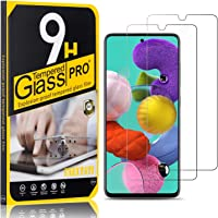 Tempered Glass Screen Protector Compatible with Galaxy A51, UNEXTATI 9H Hardness Screen Protector Film, HD Clear…