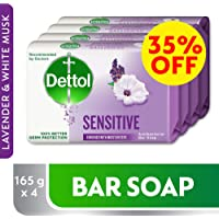 Dettol Sensitive Anti-Bacterial Bar Soap 165g Pack Of 4 at 35% Off