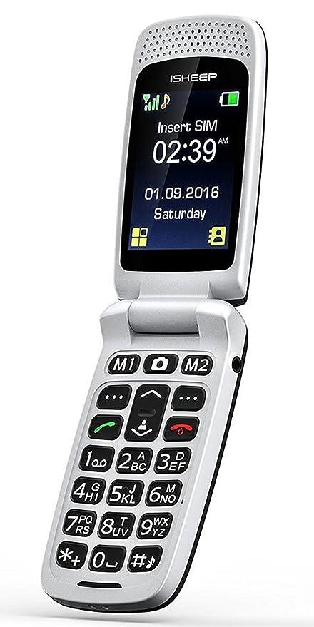 04eb8c1a5a ISHEEP Telefono Cellulare per anziani Nero: Amazon.it: Elettronica