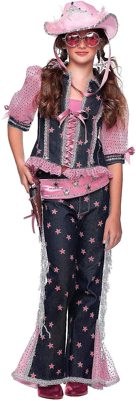 Veneziano Carnevale Venizano CAV31033-XXXL - Kinderkostüm Ragazza Del West - Alter: 11-12 Jahre - Größe: XXXL