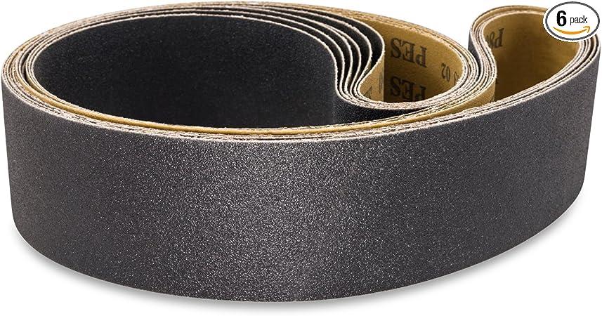 220 Grit Silicon Carbide 75 Length Pack of 2 VSM 112562 Abrasive Belt Black 52 Width Cloth Backing Fine Grade