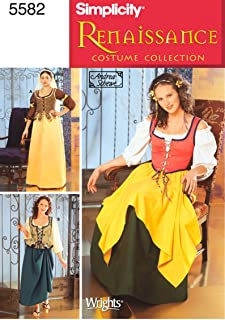Simplicity Sewing Pattern 5582 u2013 Female Renaissance Costumes Size DD (4-6-8  sc 1 st  Amazon.com : easy renaissance costumes  - Germanpascual.Com