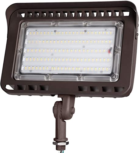 LEONLITE LED Knuckle Mount Flood Light, CRI 90 , 100W 1000W Eqv. , IP65, ETL Listed, 5000K Daylight, Backyard, Parking Lot