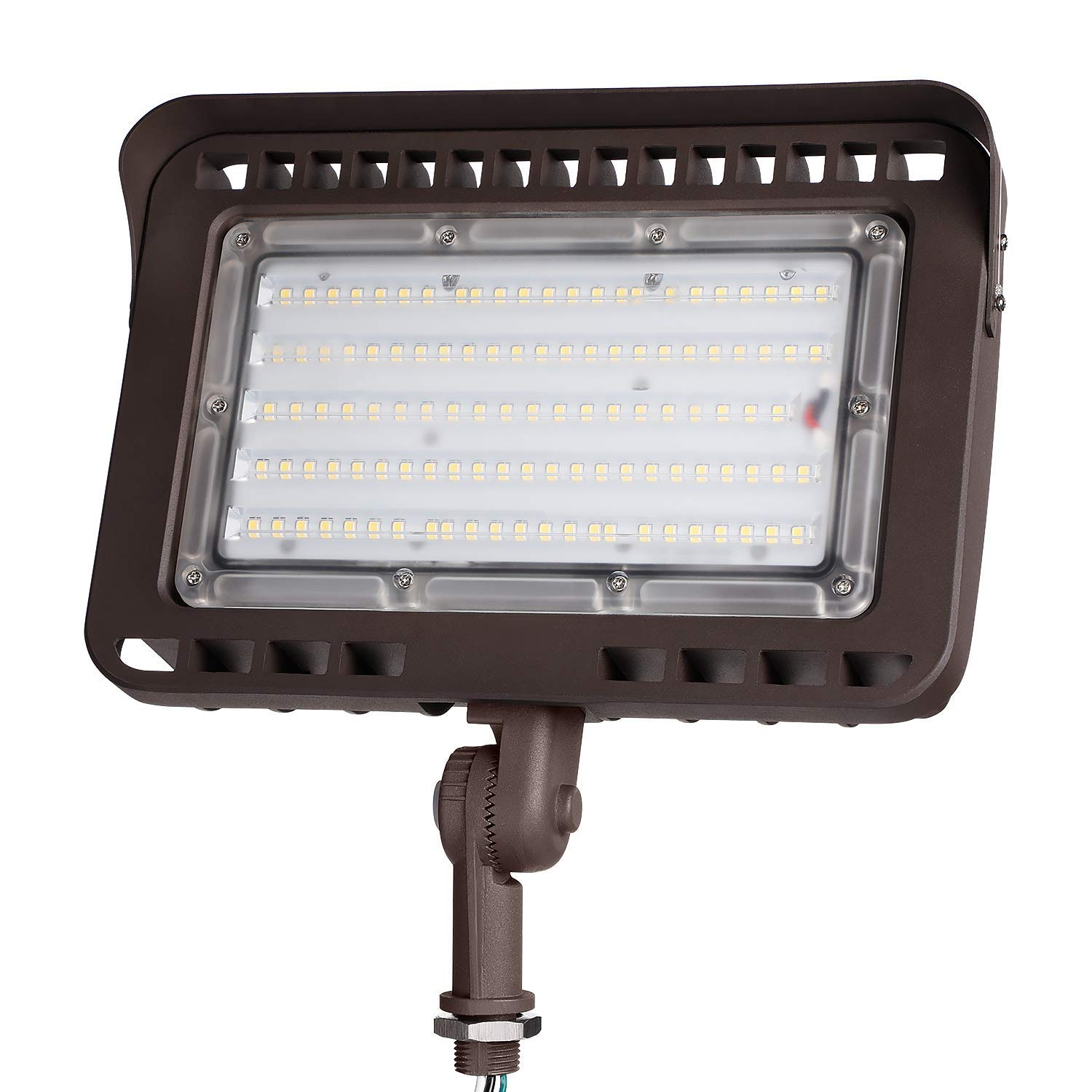 LEONLITE LED Outdoor Flood Light with Knuckle Mount, 100W (1000W Eqv.) 11,000lm Super Bright Wall Washer Security Light, CRI90+, IP65 Waterproof, 5000K Daylight, for Yard/Parking Lot/Advertising Board