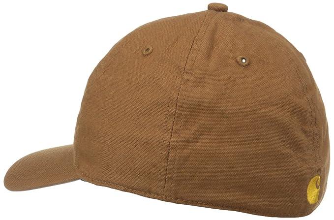 f6b9b5781 Carhartt Men's Signature Canvas Workflex Cap, Carhartt Brown ...