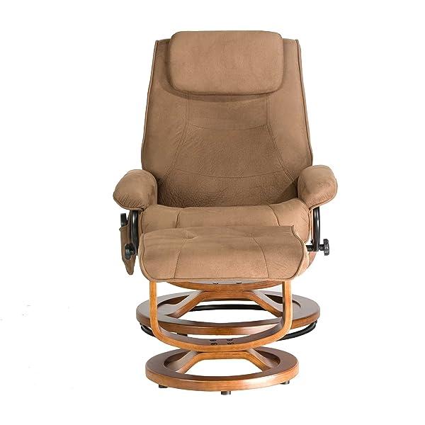 Relaxzen Deluxe Leisure Recliner Chair with 8-Motor Massage & Heat, Brown
