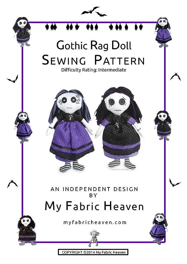 3 x patrones de costura diseño independiente. 11 cm gótico tela ...
